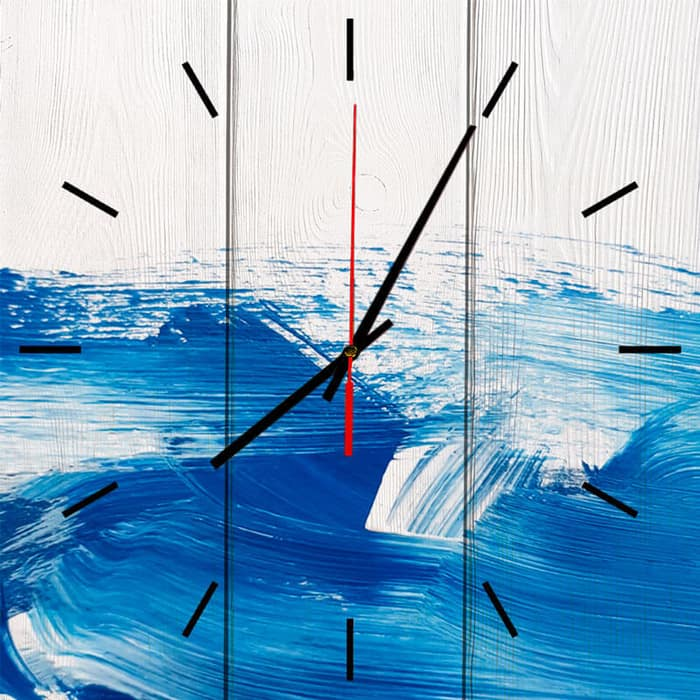 Настенные часы Дом Корлеоне Голубая вечность 50x50 см
