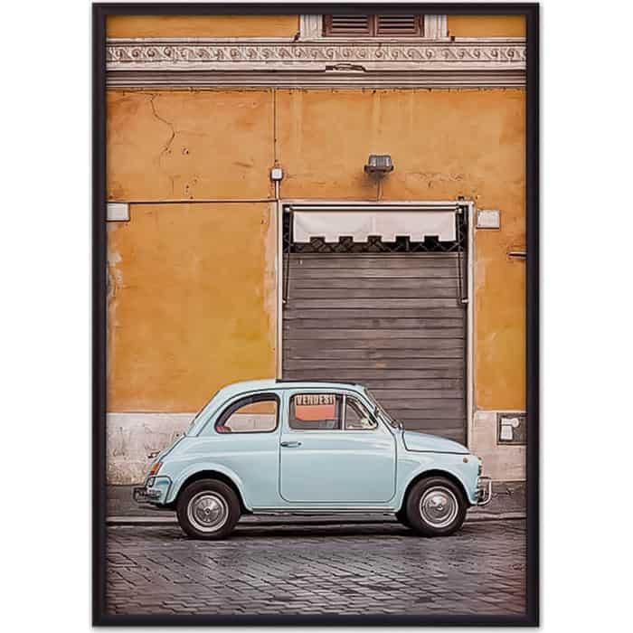 Постер в рамке Дом Корлеоне Голубой автомобиль 30x40 см