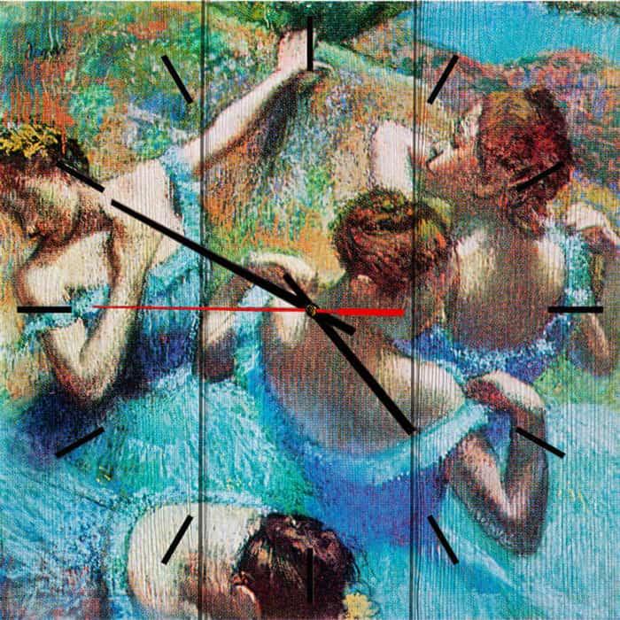 Настенные часы Дом Корлеоне Голубые танцовщицы 50x50 см