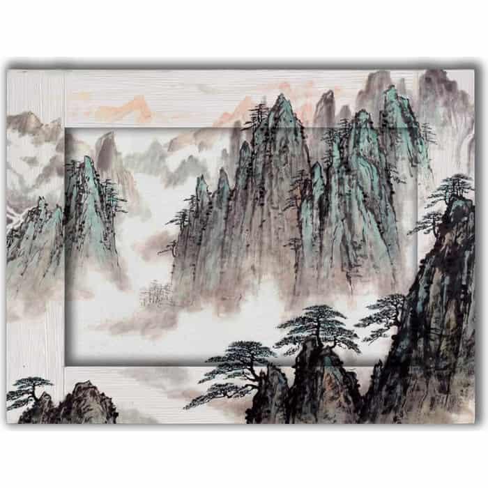 Картина с арт рамой Дом Корлеоне Горный пейзаж 60x80 см