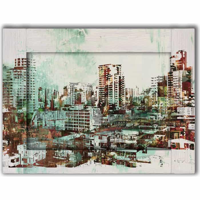 Картина с арт рамой Дом Корлеоне Город небоскребов 80x100 см картина с арт рамой дом корлеоне прогулка 80x100 см