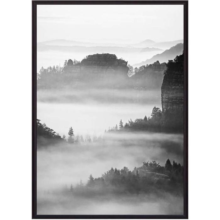 Постер в рамке Дом Корлеоне Горы в тумане 30x40 см постер в рамке дом корлеоне горы 30x40 см