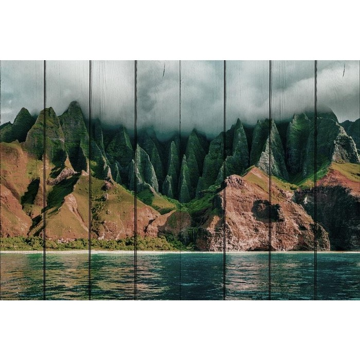 Картина на дереве Дом Корлеоне Горы Гавайи 60x90 см картина на дереве дом корлеоне горы китай 120x180 см