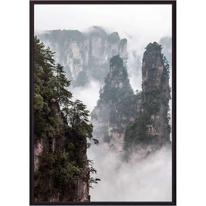 Постер в рамке Дом Корлеоне Горы Китай 50x70 см