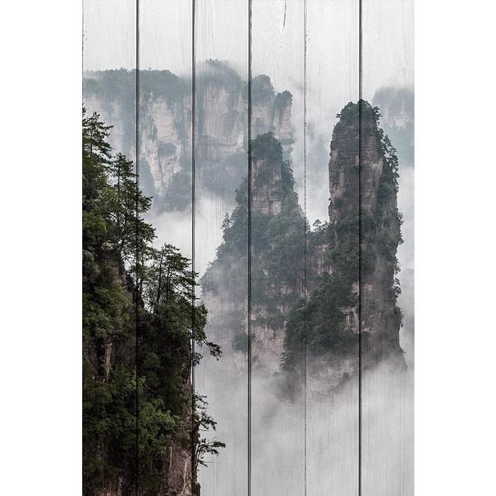 Картина на дереве Дом Корлеоне Горы Китай 100x150 см картина на дереве дом корлеоне фикус 100x150 см