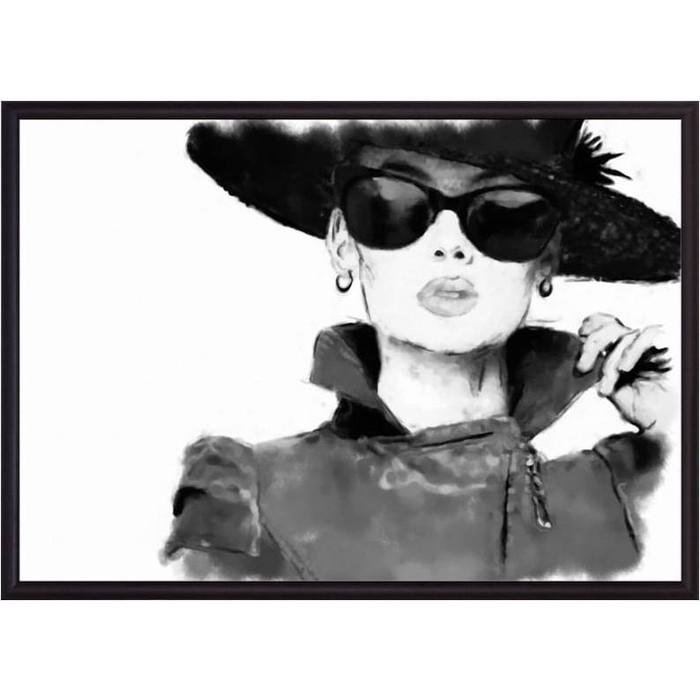 Постер в рамке Дом Корлеоне Дама черной шляпе 50x70 см