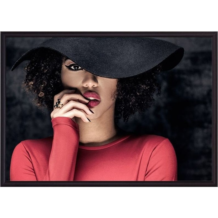 Постер в рамке Дом Корлеоне Дама шляпе 50x70 см