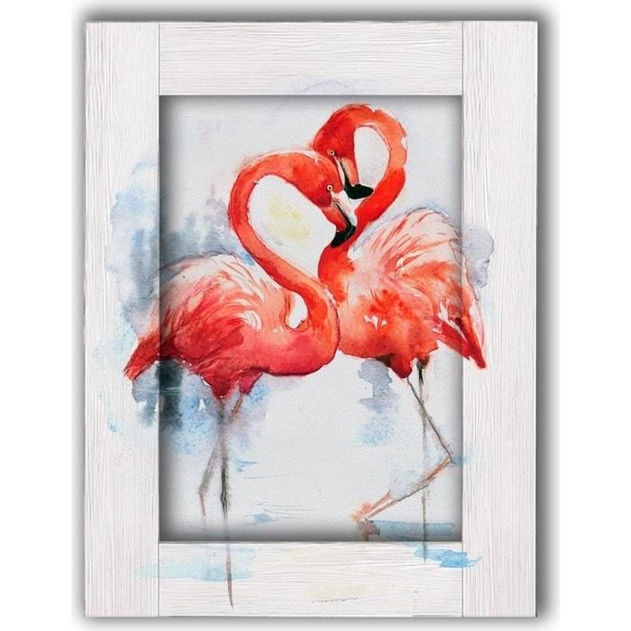 Картина с арт рамой Дом Корлеоне Два фламинго 70x90 см