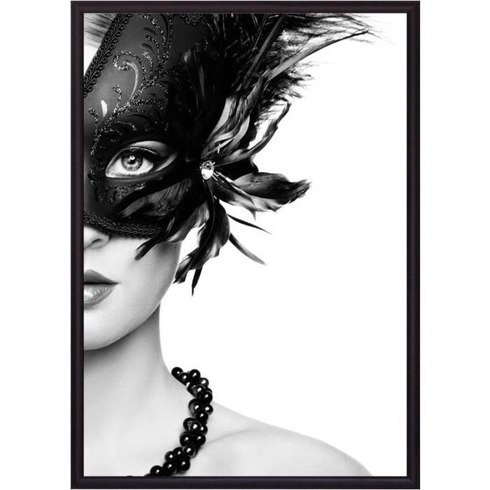 Постер в рамке Дом Корлеоне Девушка в маске 50x70 см постер в рамке дом корлеоне девушка зайчик 50x70 см