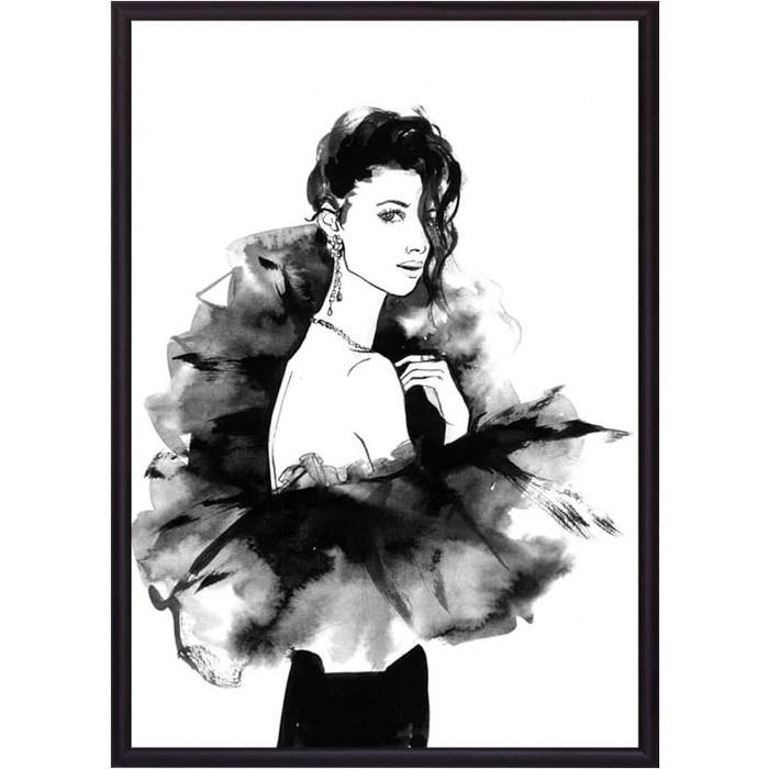 Постер в рамке Дом Корлеоне Девушка в черном Акварель 30x40 см постер в рамке дом корлеоне дама акварель 30x40 см