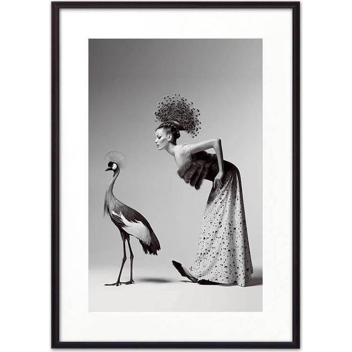 Постер в рамке Дом Корлеоне Девушка и журавль 50x70 см постер в рамке дом корлеоне девушка зайчик 50x70 см