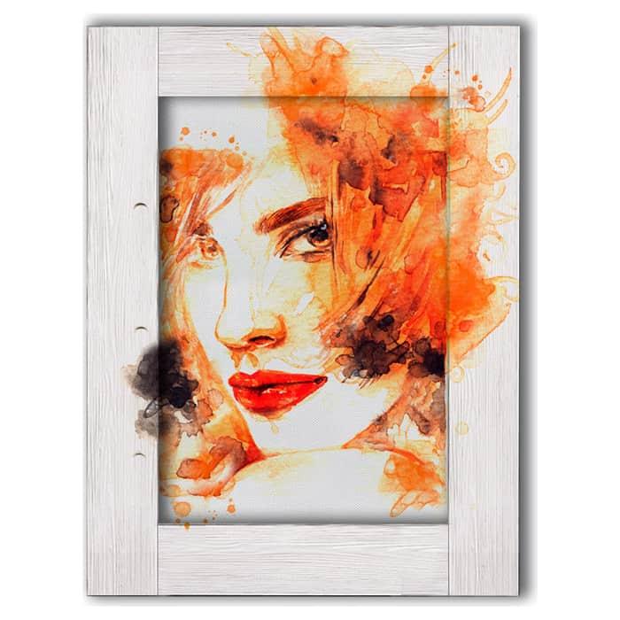 Картина с арт рамой Дом Корлеоне Девушка рыжими волосами 60x80 см