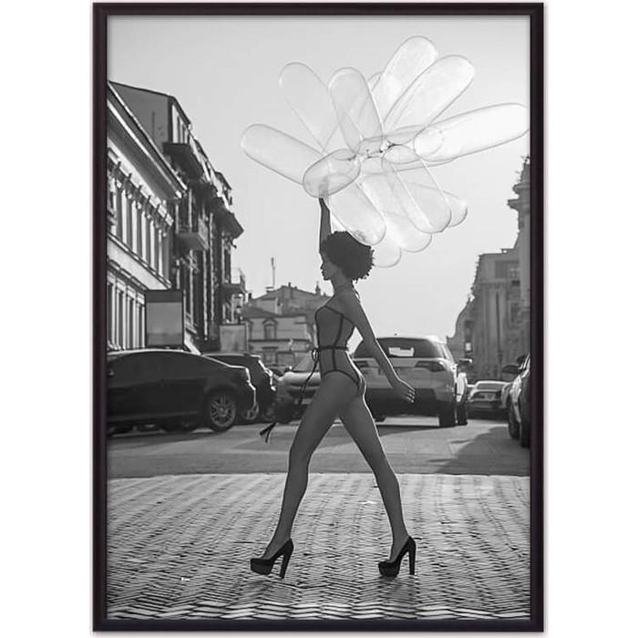 Постер в рамке Дом Корлеоне Девушка с шариками 50x70 см постер в рамке дом корлеоне девушка зайчик 50x70 см