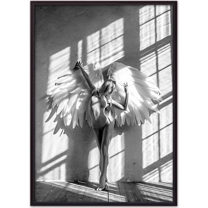Постер в рамке Дом Корлеоне Девушка-ангел №1 50x70 см постер в рамке дом корлеоне девушка зайчик 50x70 см