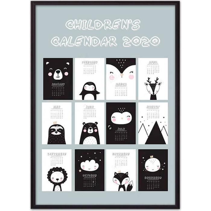 Постер в рамке Дом Корлеоне Детский календарь №1 40x60 см