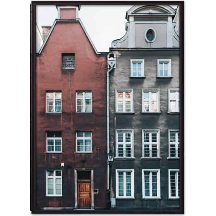 Постер в рамке Дом Корлеоне Дома Амстердама 50x70 см