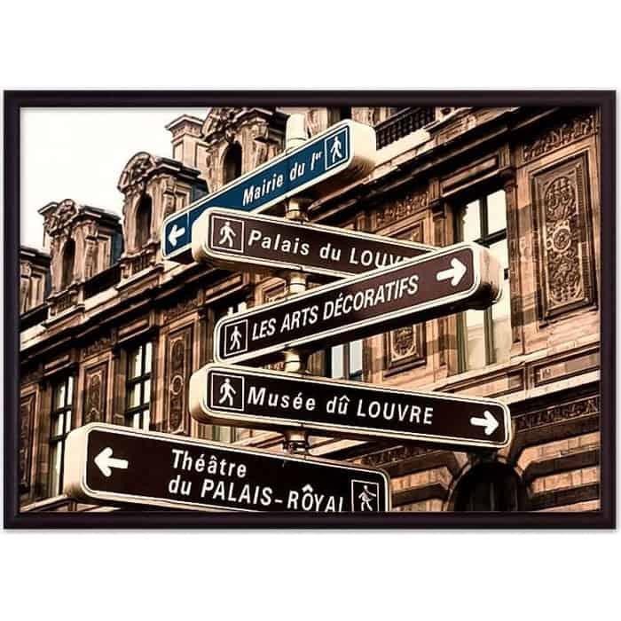 Постер в рамке Дом Корлеоне Дорожный указатель 50x70 см
