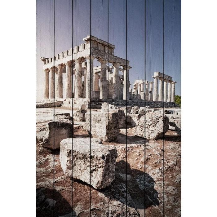 Картина на дереве Дом Корлеоне Древняя Греция 120x180 см