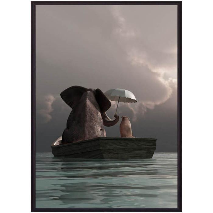 Постер в рамке Дом Корлеоне Дружба 50x70 см