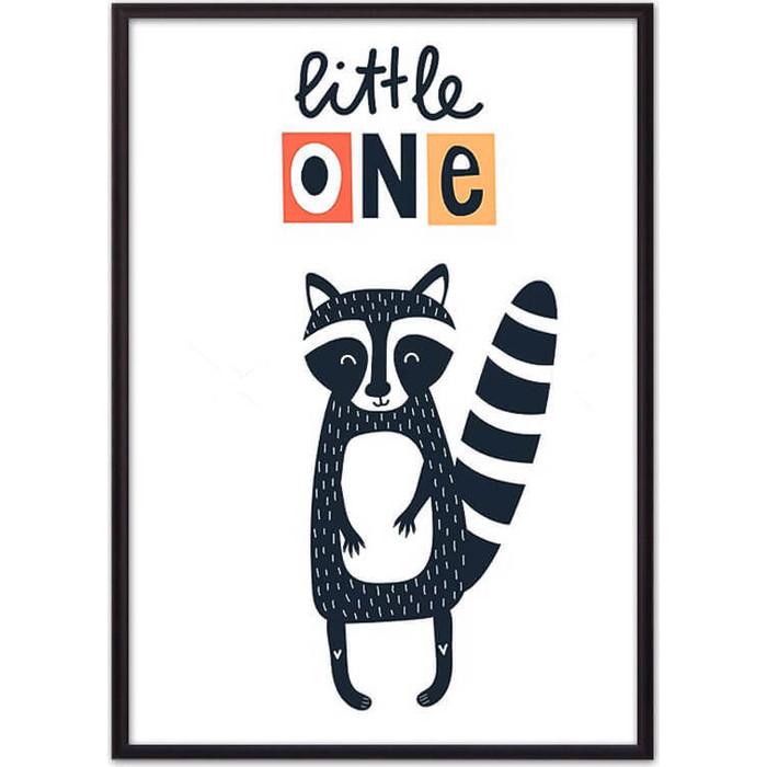 Постер в рамке Дом Корлеоне Енот Little one 50x70 см