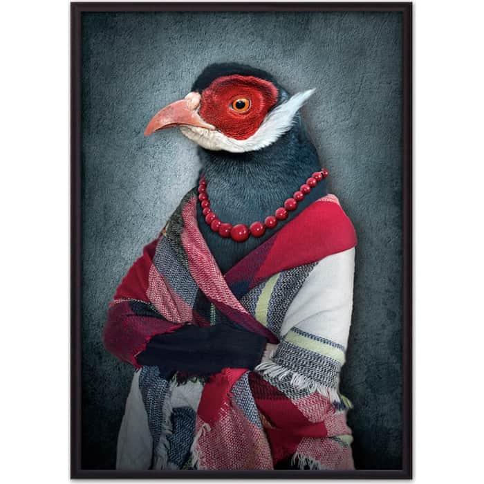 Постер в рамке Дом Корлеоне Женщина-птица 50x70 см