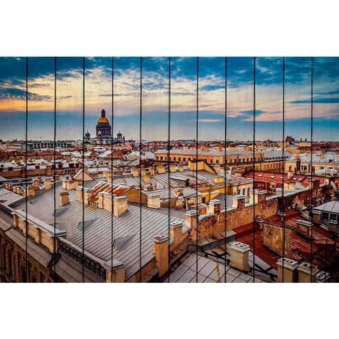 Картина на дереве Дом Корлеоне Закат в Санкт-Петербурге 100x150 см