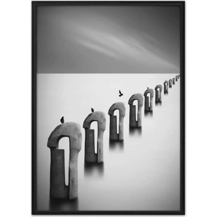 Постер в рамке Дом Корлеоне Закат на море 50x70 см