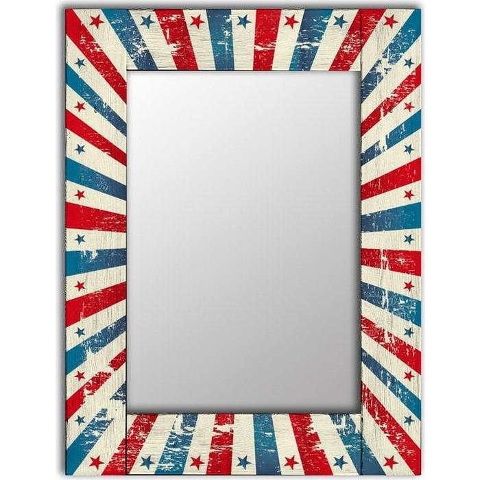Настенное зеркало Дом Корлеоне Звезда 90x90 см