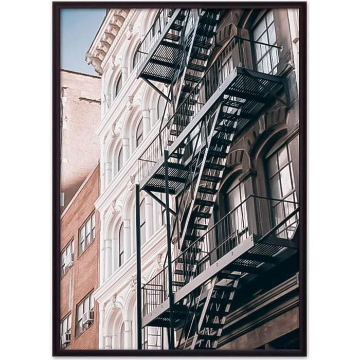 Постер в рамке Дом Корлеоне Здание с лестницей 21x30 см