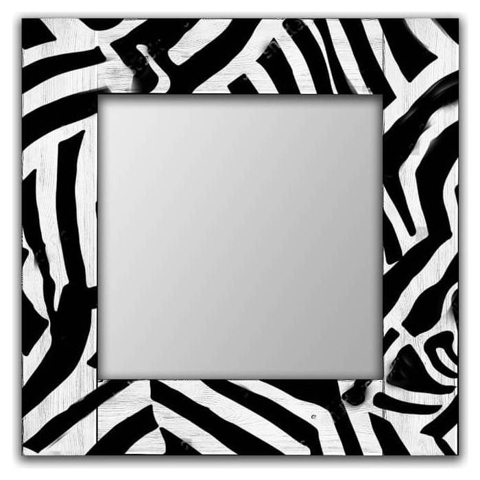 Настенное зеркало Дом Корлеоне Зебра 80x80 см