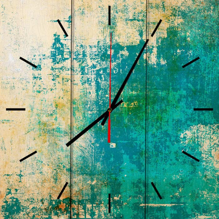 Настенные часы Дом Корлеоне Зеленый гранж 40x40 см