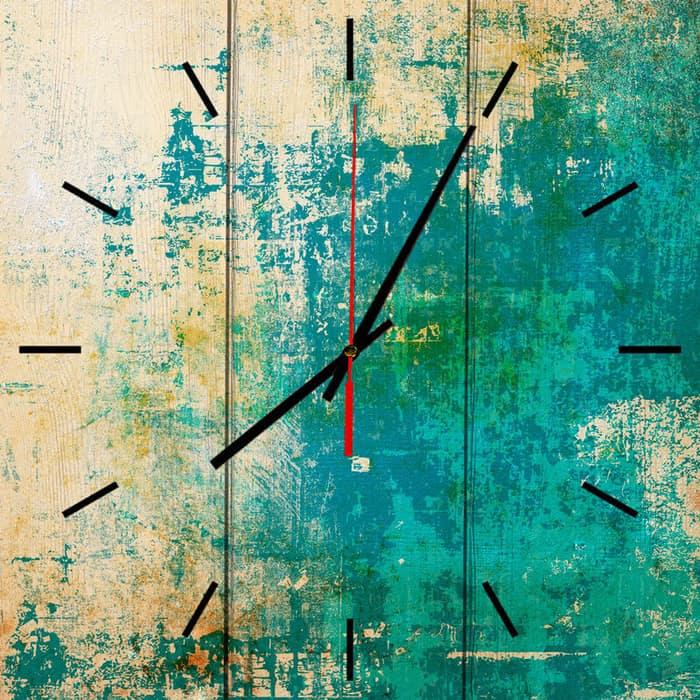Настенные часы Дом Корлеоне Зеленый гранж 50x50 см