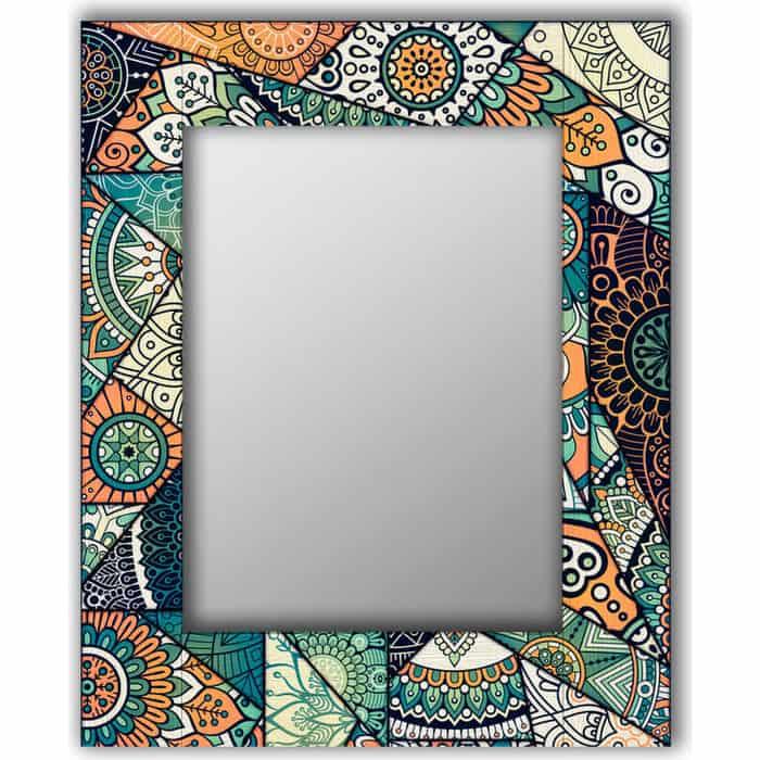 Настенное зеркало Дом Корлеоне Зеленый калейдоскоп 60x60 см