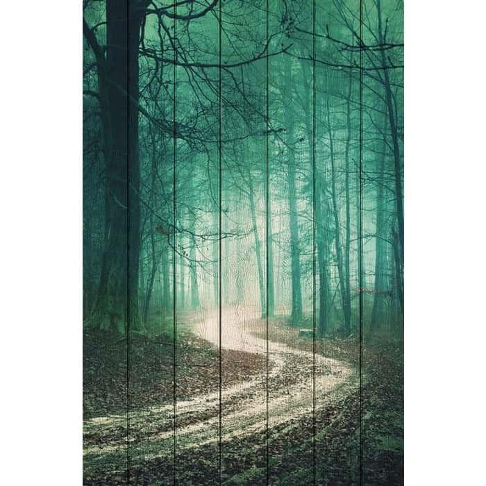 Картина на дереве Дом Корлеоне Зеленый лес 100x150 см