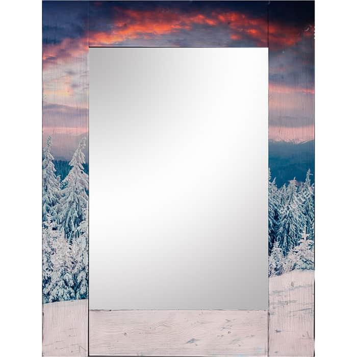 Настенное зеркало Дом Корлеоне Зима 90x90 см