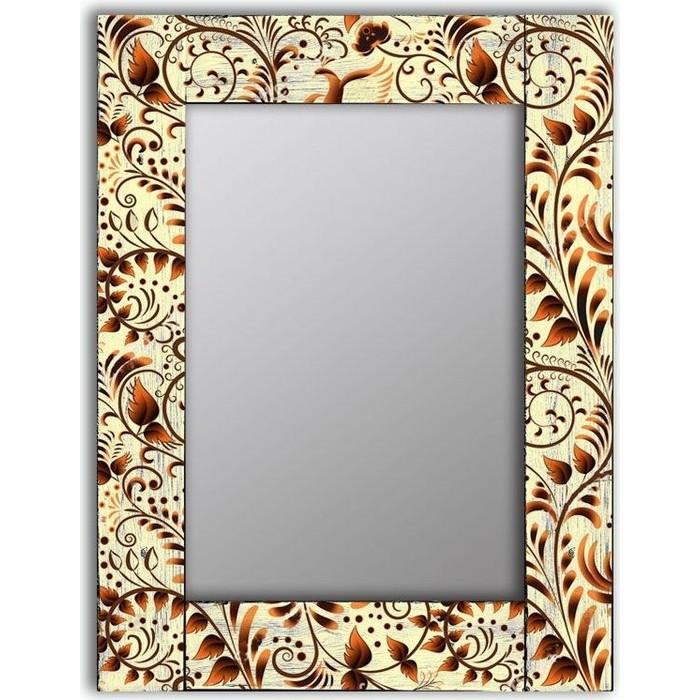 Настенное зеркало Дом Корлеоне Золотая роспись 90x90 см