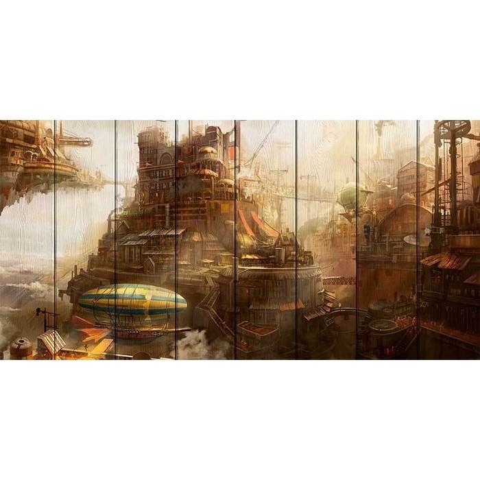 Картина на дереве Дом Корлеоне Империя Авалон 50x100 см