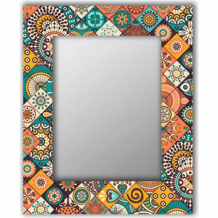 Настенное зеркало Дом Корлеоне Индийская плитка 75x110 см