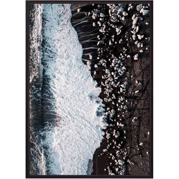 Постер в рамке Дом Корлеоне Каменистый пляж 30x40 см