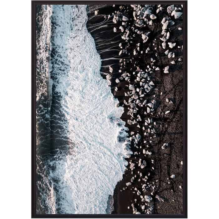 Постер в рамке Дом Корлеоне Каменистый пляж 50x70 см