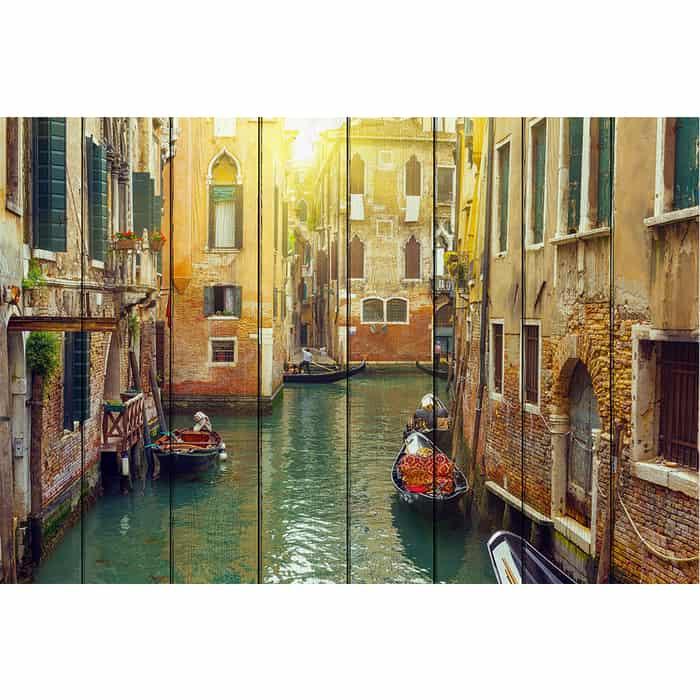 Картина на дереве Дом Корлеоне Каналы Венеции 100x150 см