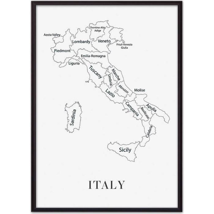 Постер в рамке Дом Корлеоне Карта Италии 40x60 см