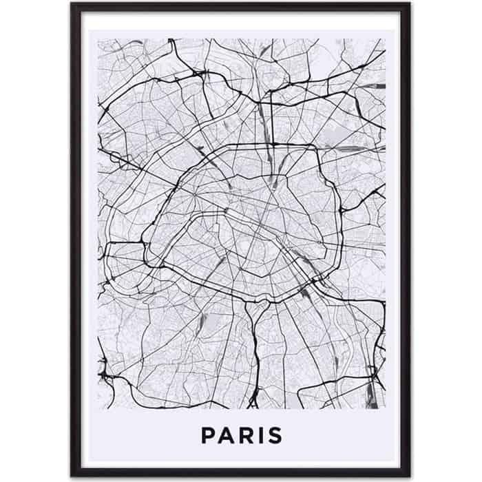 Постер в рамке Дом Корлеоне Карта Париж 40x60 см