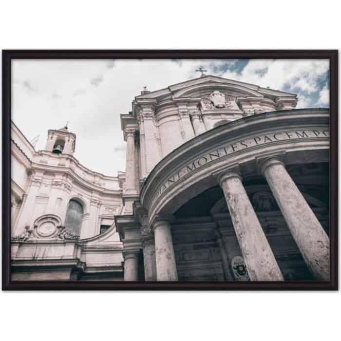 Постер в рамке Дом Корлеоне Католическая церковь 30x40 см