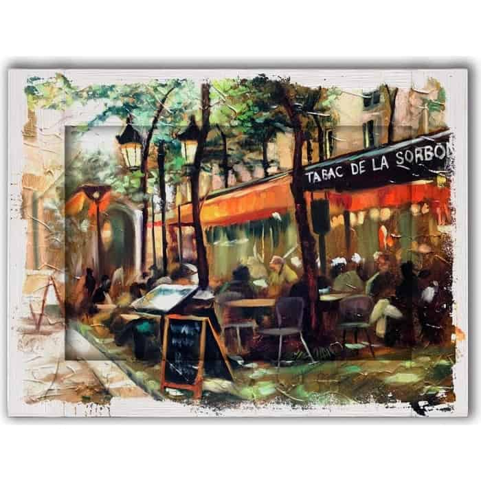 Картина с арт рамой Дом Корлеоне Кафе Сорбона 80x100 см
