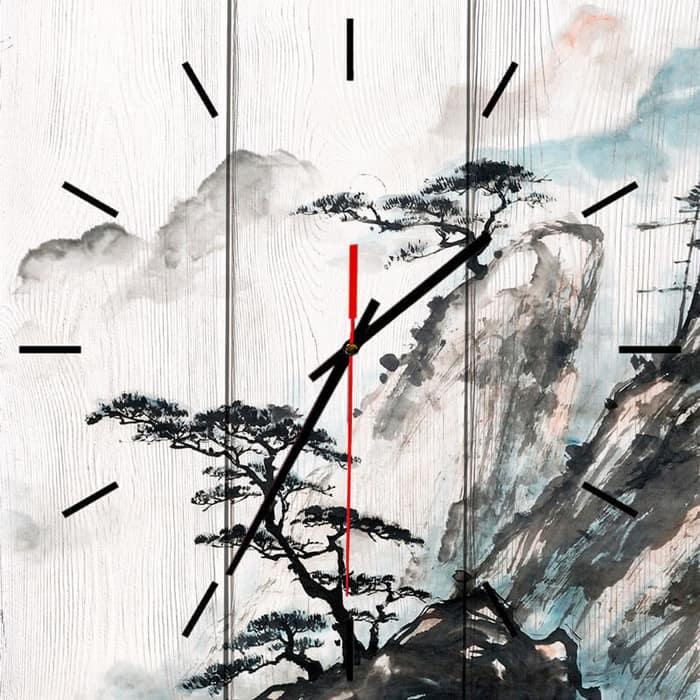 Настенные часы Дом Корлеоне Китайский пейзаж 60x60 см