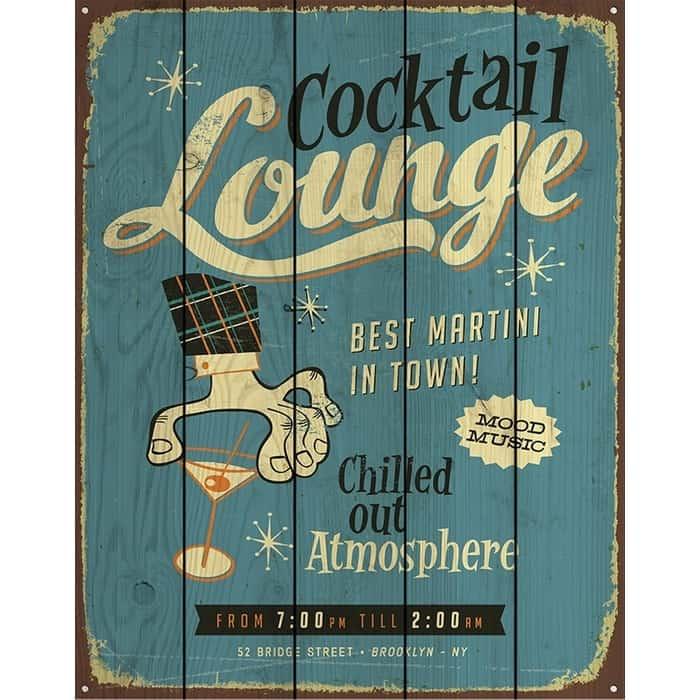 Картина на дереве Дом Корлеоне Коктель Lounge 60x90 см