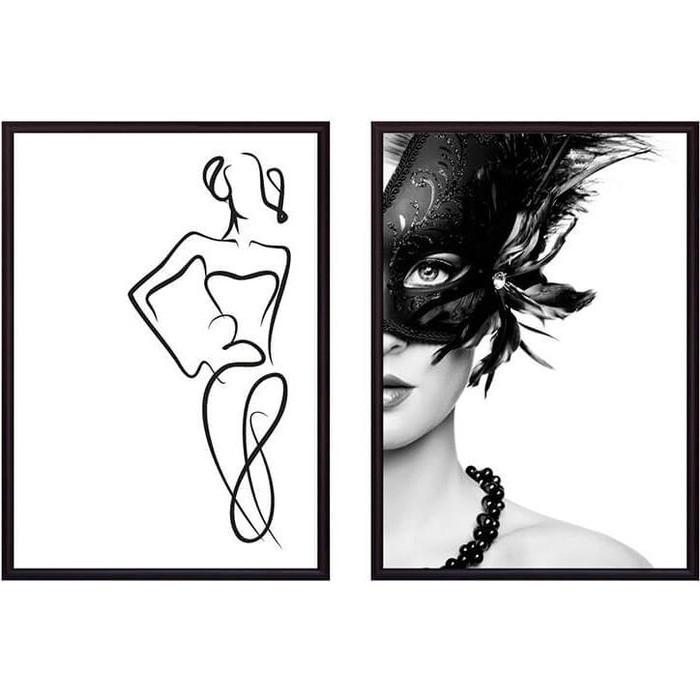 Набор из 2-х постеров Дом Корлеоне Коллаж Fashion №1 40х60 см 2 шт.