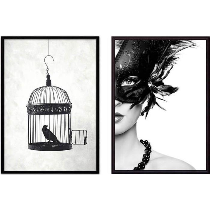 Набор из 2-х постеров Дом Корлеоне Коллаж Fashion №29 40х60 см 2 шт.
