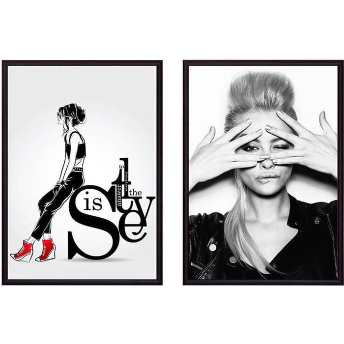 Набор из 2-х постеров Дом Корлеоне Коллаж Fashion №3 30х40 см 2 шт.